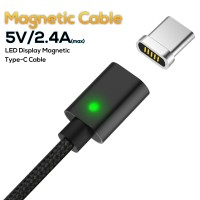 TOPK Magnetic Cable LED Indicator USB Type C Cable& Micro USB Cable