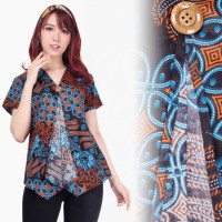 Blouse -) Blouse batik jupe catur kencana parang biru,tannisa