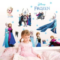 WALL STICKER FROZEN PRINCESS SALJU ELSA ANAK KIDS CC6969 STIKER DINDIN