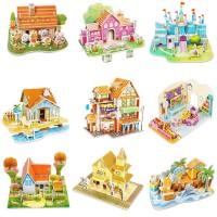 MD❀1 Set Puzzle Jigsaw 3D Model Istana untuk Edukasi Anak