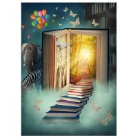 Fairy Tale Background for Photo 3x5ft Children Theme Book World