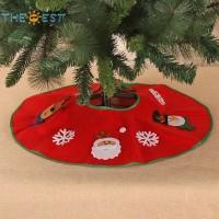 70cm Karpet Lingkaran Alas Pohon Natal Aksen Santa, Rusa, Boneka Salj