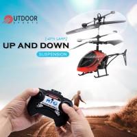 Mainan RC Helikopter Mini dengan Lampu + USB + Remote Control untuk