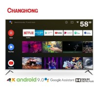 CHANGHONG LED TV 58 Inch 4K UHD Android 9.0 Smart TV Netflix -U58H7A