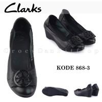 Clarks Sepatu Original Kulit Sepatu Wanita Kode 686-3 - Free Dus