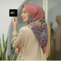 Jilbab hijab segi empat voal square deenay kw motif abstrak dusty