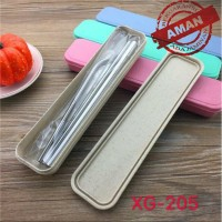 Stainless Straw Sedotan Steril 4 in 1 Set BOX (3 sedotan 1 sikat 1box)