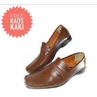 Sepatu Pria Pantofel Formal Bit Loafers Slip On Kulit Asli Murah 9604