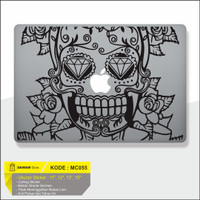 Decal Sticker Macbook Sticker Laptop Aksesoris Macbook Skull