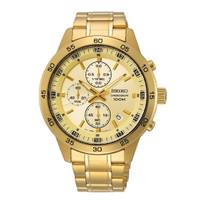Jam Tangan Pria Seiko Chronograph SKS646P1 Gold Dial Gold Stainless