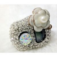Tasbih digital diamond motif bunga/tasbih digital swarovski