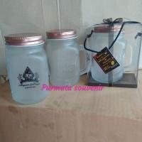 souvenir gelas jar/drink jar/souvenir gelas/souvenir unik