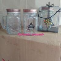 souvenir gelas jar/souvenir pernikahan/souvenir Jakarta/drink jar