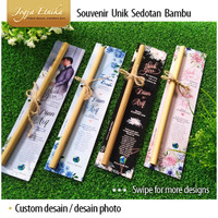 Souvenir unik sedotan bambu custom