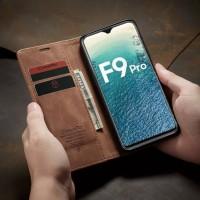 Wallet Case Oppo F9 F9 PRO Caseme Flip Case Original - Cokelat