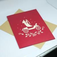 KARTU UCAPAN HAPPY WEDDING POP UP 3D DETAIL SANGAT BAGUS!