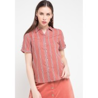 Rodeo - Blouse Wanita - Anneth Top - Dusty Pink