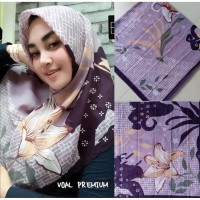 Evanz jilbab Segi Empat Motif Bunga Abstrak Ala Deska
