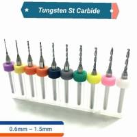 10 pcs 0 6 mm to 1 5 mm PCB Drill Bit Tungsten Steel Carbide CNC Bits