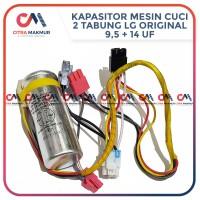 Kapasitor Mesin Cuci LG 9,5 uF dan 14 kabel 2 tabung 9.5