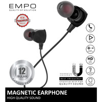 EMPO Cord Magnetic Earphone Noise Cancelling / Headset / Handsfree