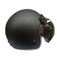 Helm Igloo Retro Gunmet Doff List Chrome Silver (Free Visor) L