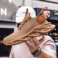 Sepatu Sneakers Import Pria Sport Air Force - Sepatu Fashion Korea - Putih, 43