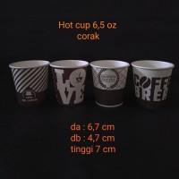 paper cup 6,5oz corak.