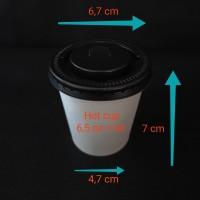 Paper cup 6,5oz + lid.