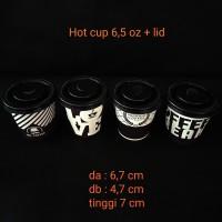 paper cup 6,5oz corak + lid.