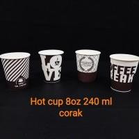 paper cup 8oz/240 ml corak.