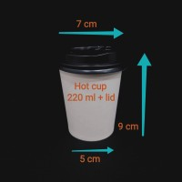 paper cup 8oz/220ml polos + lid