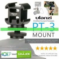 ULANZI PT-3S 3 Hot Shoe Mount Adapter Converter Base Microphone LED