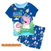 Baju Setelan Anak import Peppa pig