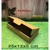 kotak kardus karton Uk. 25x12x5 cm ........Die Cut /Brownies