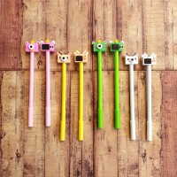 Pen isi 4 PCS - Pulpen - Gelpen Motif Animal Camera C0051 Isi 4pcs -