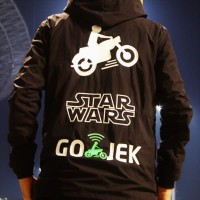 Jaket HOODiE JUMPER Sweater Distro STAR WARS + GOJEK polos custom ojol