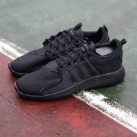 Sepatu pria/wanita adidas Full Hitam Black Jogging Gym Running Lari
