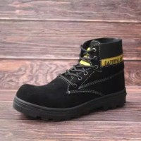Sepatu Safety Boots Pria Terlaris Caterpillar Suede