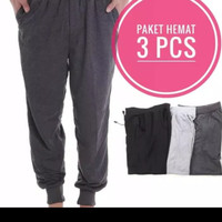 JG.Promo Paket Hemat 3 Pcs . Celana Jogger Panjang ( Ukuran XL )