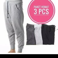 JG.Promo Paket Hemat 3 Pcs .Celana Jogger Panjang Standar Training