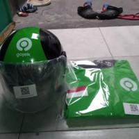 helm gojek terbaru dan jaket Garuda biasa waterproof original scanner