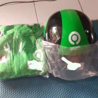 helm gojek dan jaket gojek Garuda super waterproof original