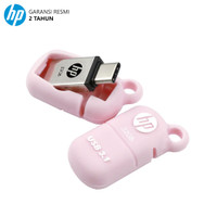 HP X5100M Flashdisk OTG Type C 3.1 - 32GB - Merah Muda