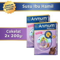 Anmum Materna Cokelat 200gr - Susu Ibu Hamil - 2 Pcs