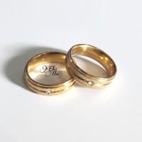 cincin pria wanita titanium gold xk27