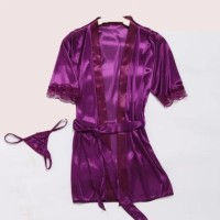 Hot Lingerie Baju Tidur Kimono Sleep Wear G-String+Bra Sexy A127 -