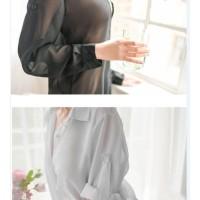 Hot Lingerie Set Celana Dalam Wanita Kimono Baju Tidur Transparan A282