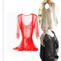 Hot Lingerie Kimono Set G-String Sexy Baju Tidur Bahan Lace A270 -