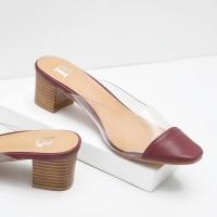 Berrybenka Sepatu Mules Shoes Wanita Mischa Juliette Transparant Mules